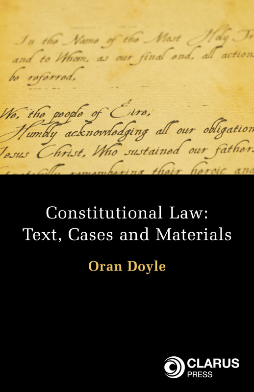 Constitutional Law: Text, Cases and Materials