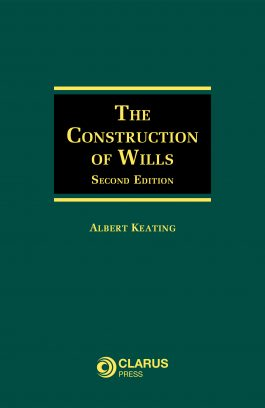 Construction of Wills, 2nd Ed