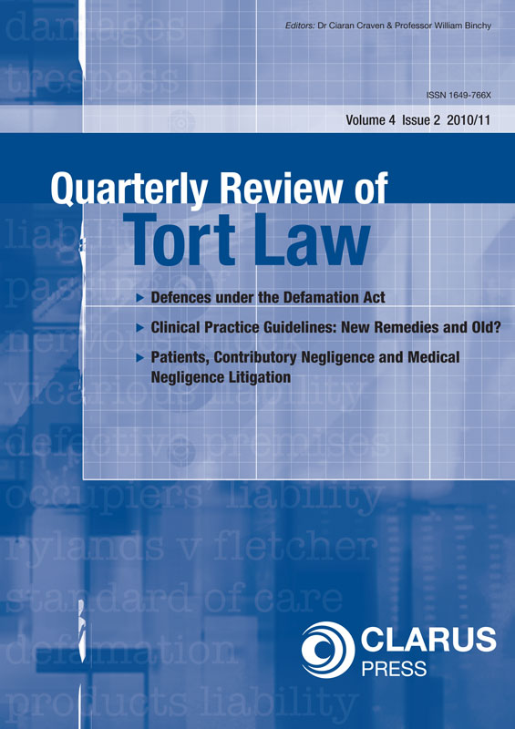 handbooks for tort law only at clarus press tort law vol 4 2